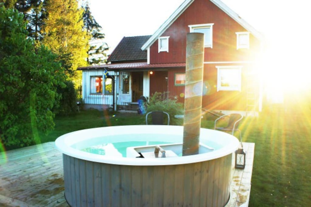 The Wooden-heated Hot Tub