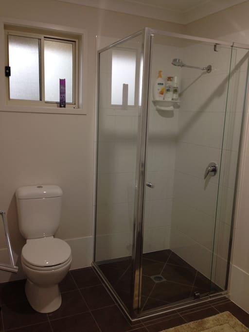 Own shower and toilet