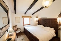 Bedroom one in main house with super kingsize bed