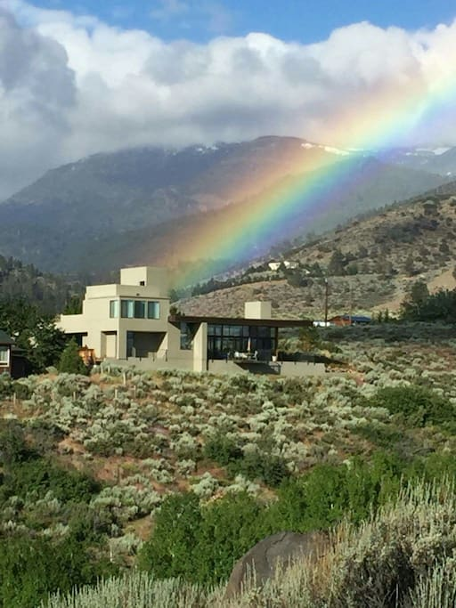 My neighbor took this this morning on her walk from across the ravine. Hoping for a pot of gold!