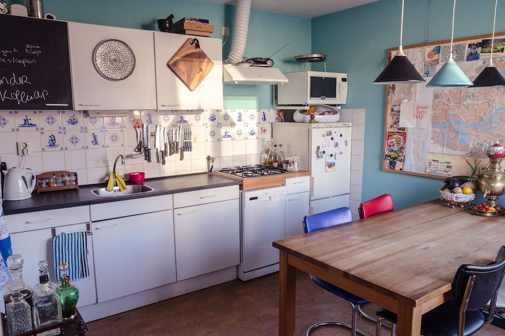 our kitchen and dining room