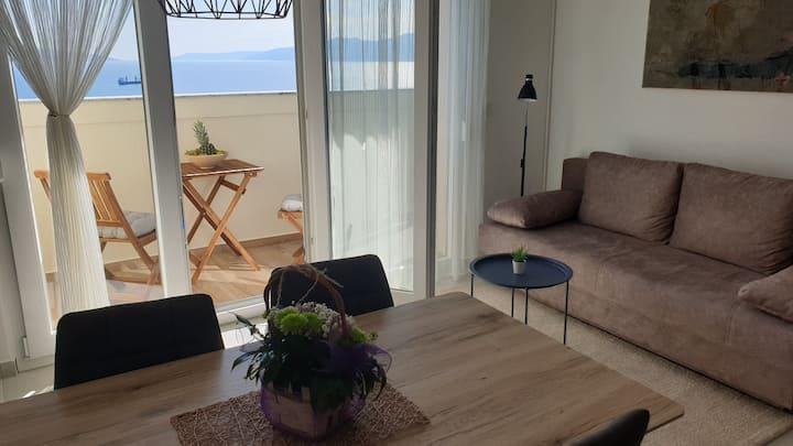 VISTA BLU, spacious with panoramic sea view, 57m2