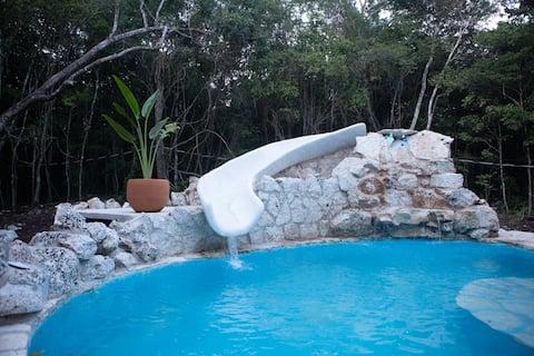 Magisch Maya Jungle huis op een fantastische locatie