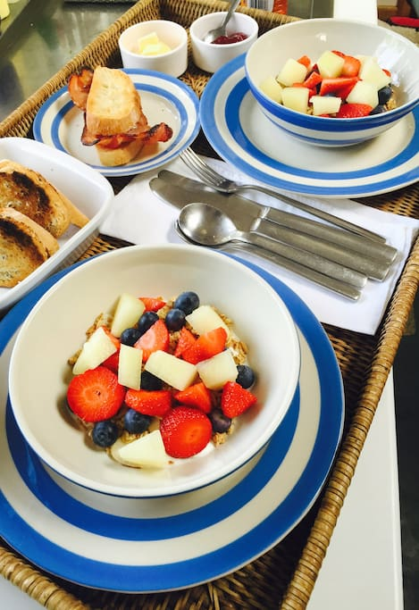 We can make you hot or cold breakfasts - or a bit of both! : )
