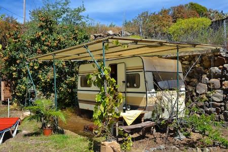 Wohnwagen auf Biofinca - Tijarafe - Campingvogn