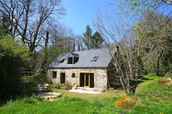 Relaxed & Secluded Woodland Cottage - Ancient Site - Mellionnec