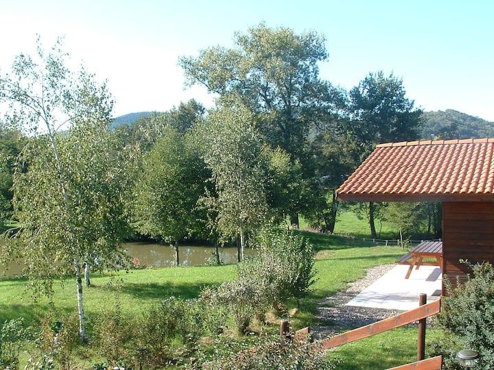 Lodge situated to fishing lake