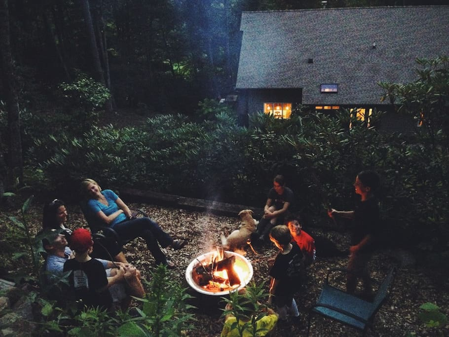 enjoy cool mountain evenings around the firepit.