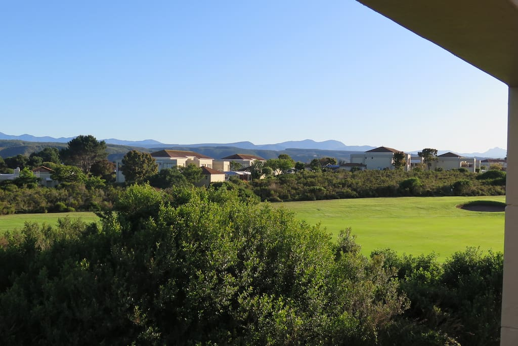 Fantastic view from the apartment of Goose Valley in the foreground and the Tsitsikamma Mountains in the background