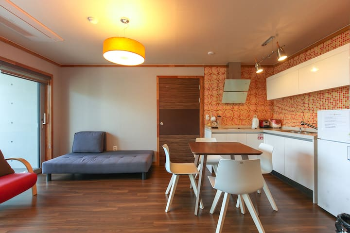 living room has also kitchen facilities