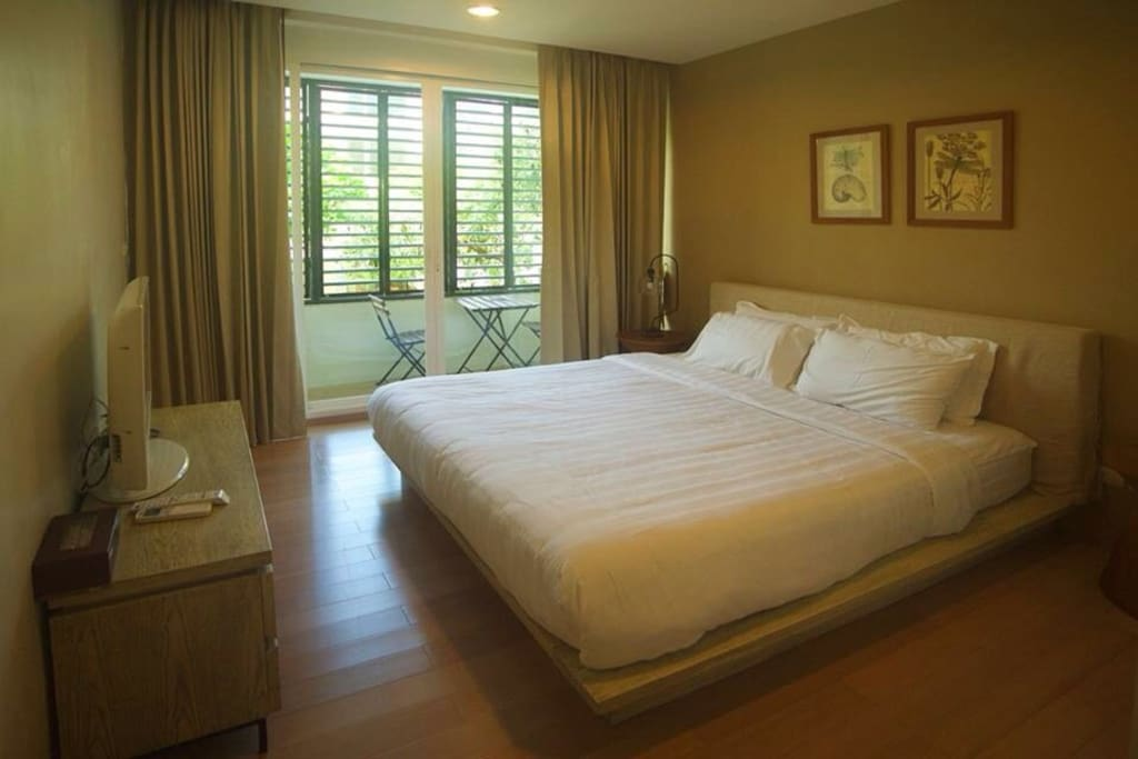 Master bed room with LCD TV