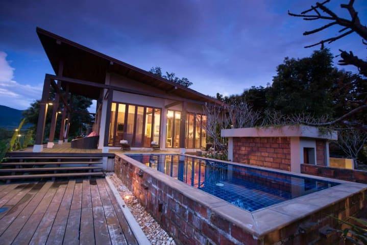 The Panoramic view 2BR pool Villa. - Mae Na Toeng - 別荘