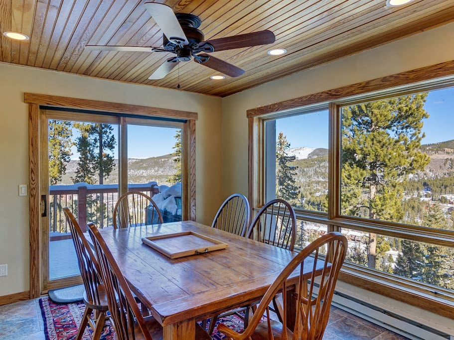 Dining area with expansive views from Lake Dillon to Baldy Mountain