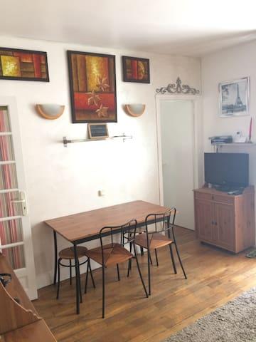 Appartement 2 pièces tout confort métro Charonne