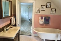The guest suite bathroom.  This is also the entrance to the Bouquet Room.