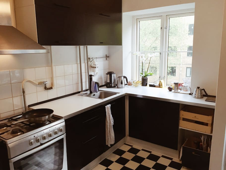 Our pretty and practical little kitchen.