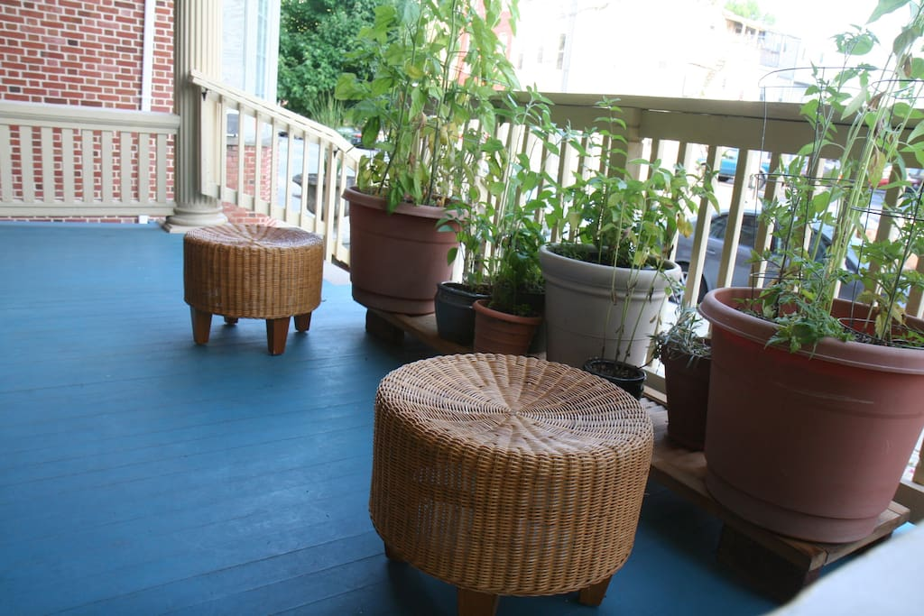 Front porch - available and great for working on laptops, hanging with friends, reading, watching traffic...