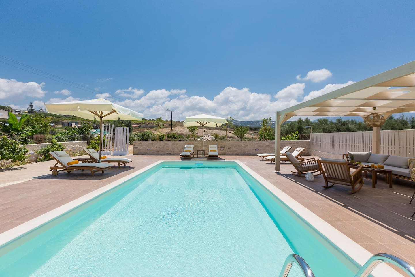 Villa Anesis features a lovely outside area, with a private swimming pool.