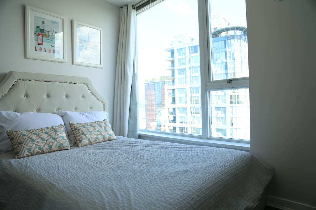 Second bedroom with a plush double bed