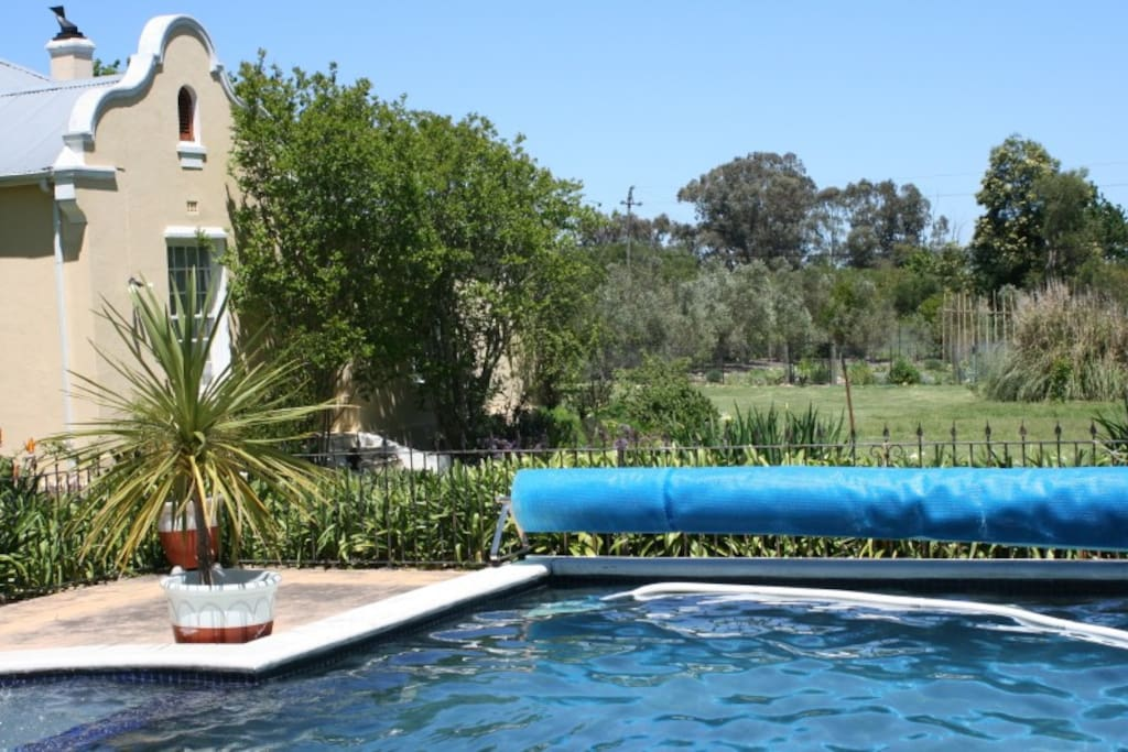 Gated enclosed pool garden