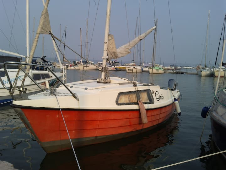 Yacht in Siberia, Ob sea