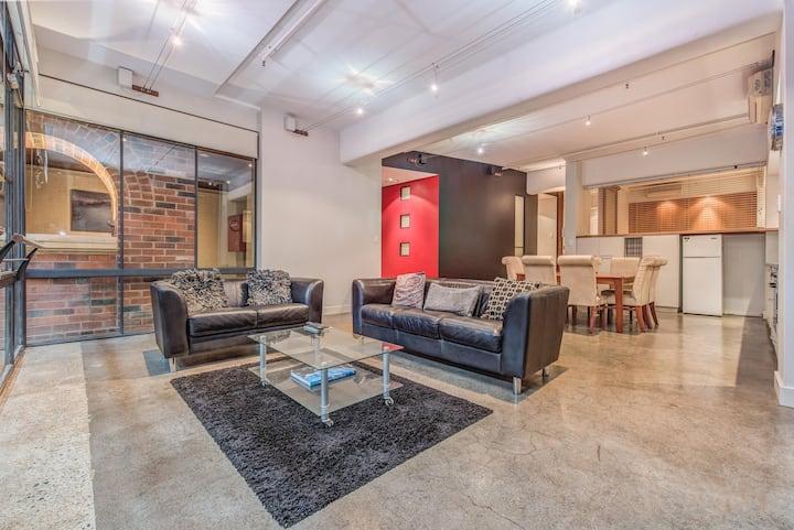 PERTH CBD 2 Bedroom Warehouse Style Apartment