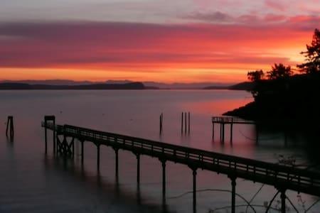 Blackberry Beach Waterfront Cabin - Olga - Talo