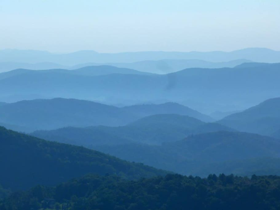 The Blue Ridge. Thunder Hill Overlook, 20 minutes from the cabin.