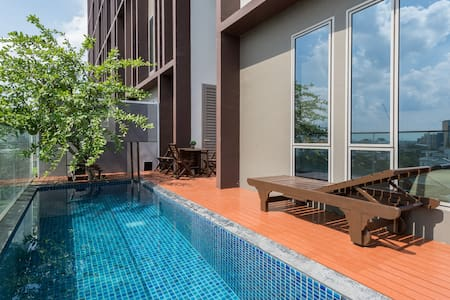 Private Pool•2BRLuxury Duplex•10min toCenter欢迎各位贵宾 - Bangkok