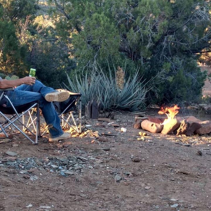 Campsite off Historic Route 66