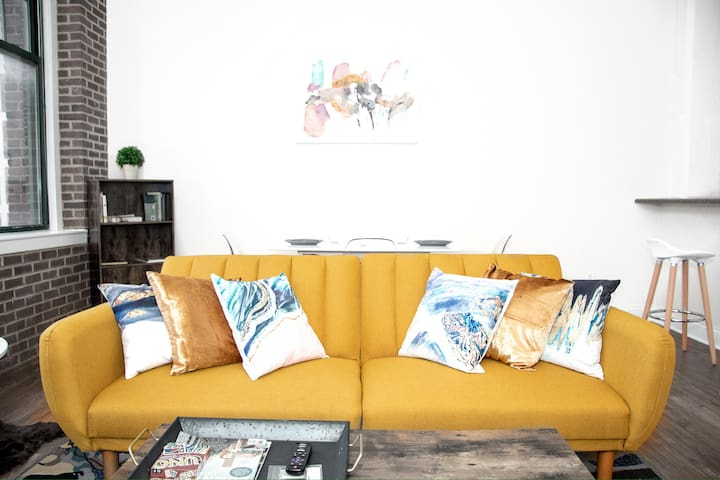 Living room ~ stylish futon couch