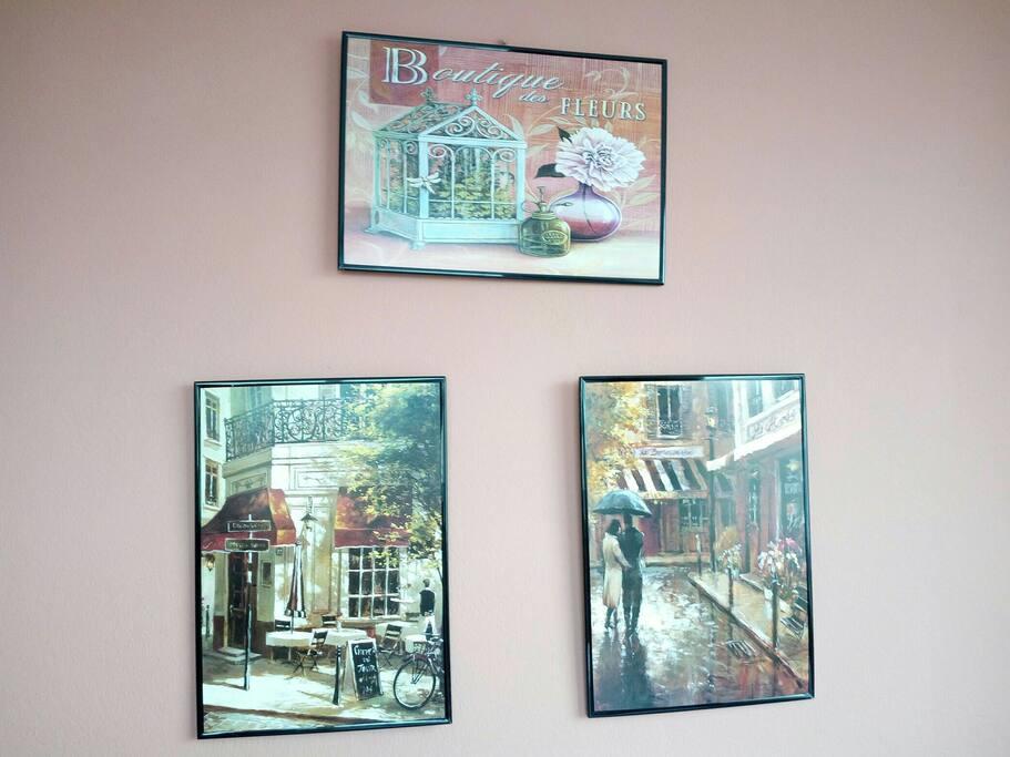 Καδράκια στον τοίχο του υπνοδωματίου! / Decoration on the bedroom's wall!
