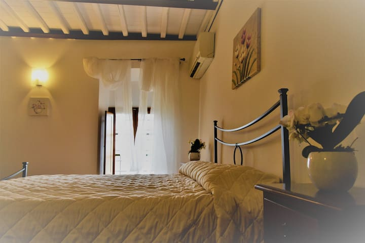 Rose room in ancient farm Chianti hills/pool