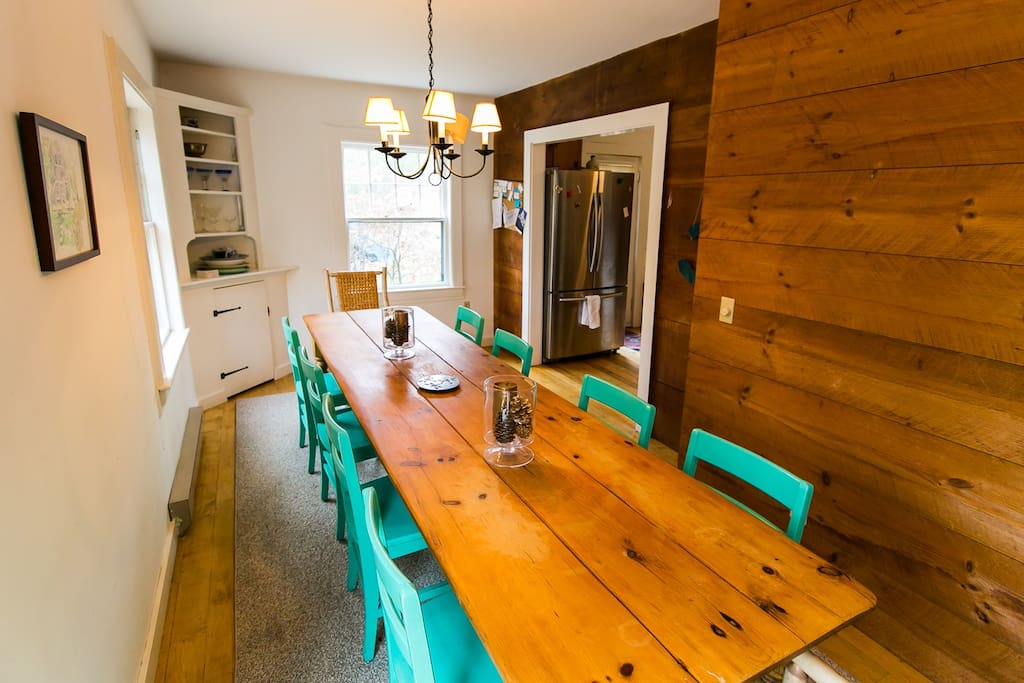 Dining Room - long table for convivial dinners