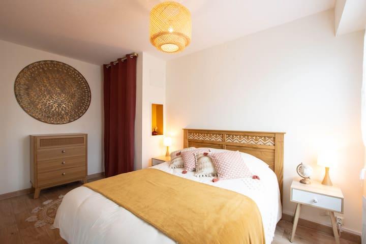 Votre chambre à coucher, un bon repos pour de bonnes vacances.