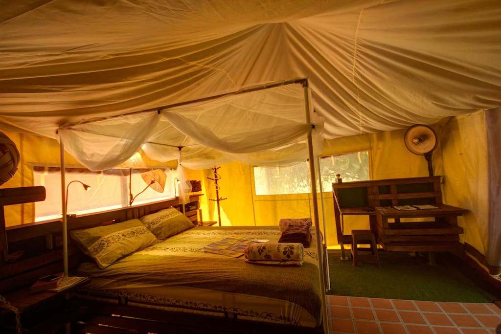 Large luxury tent with comfort