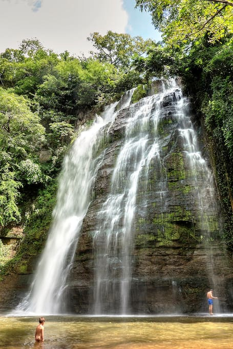 One of Nicaragua's best waterfalls- secluded and near our farm