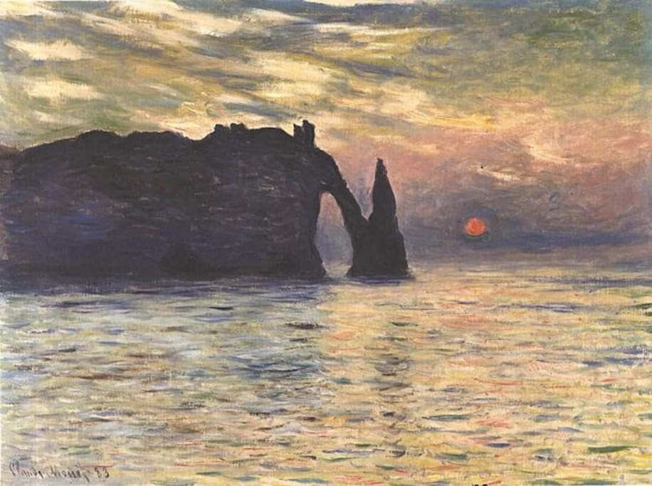 Etretat by Claude Monet