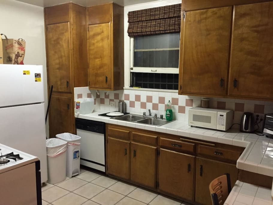 Kitchen with Stove, Dishwasher, Microwave and Fridge