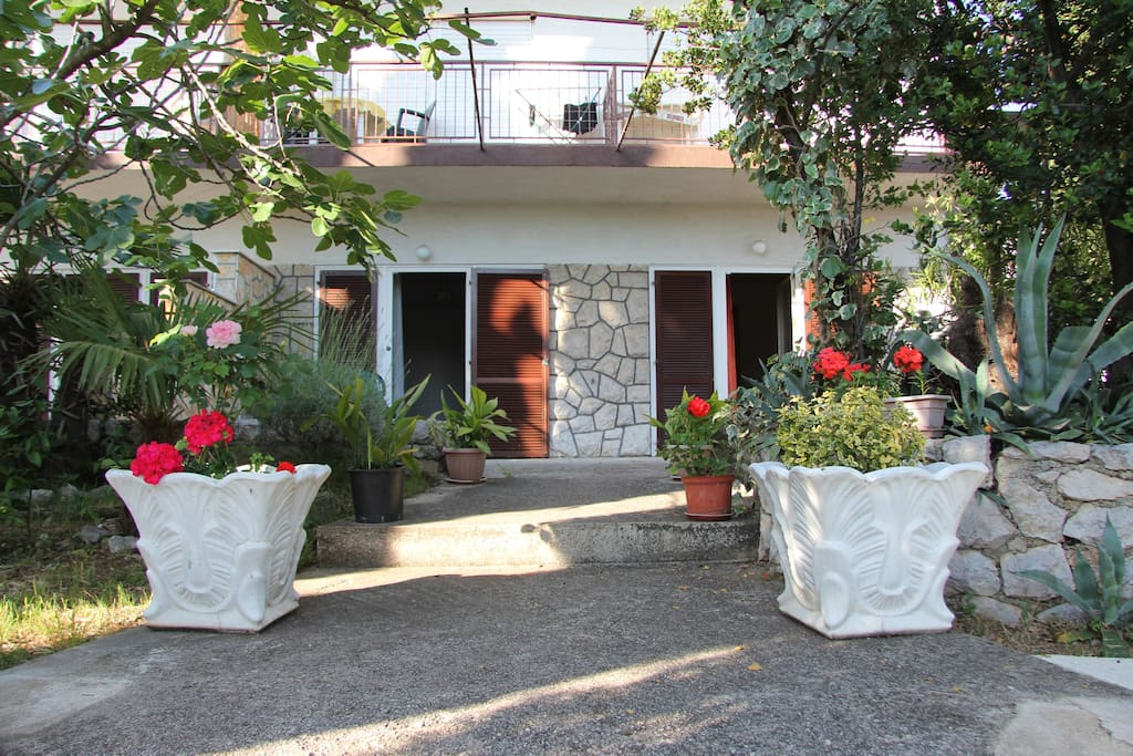 Entrance to the terrace