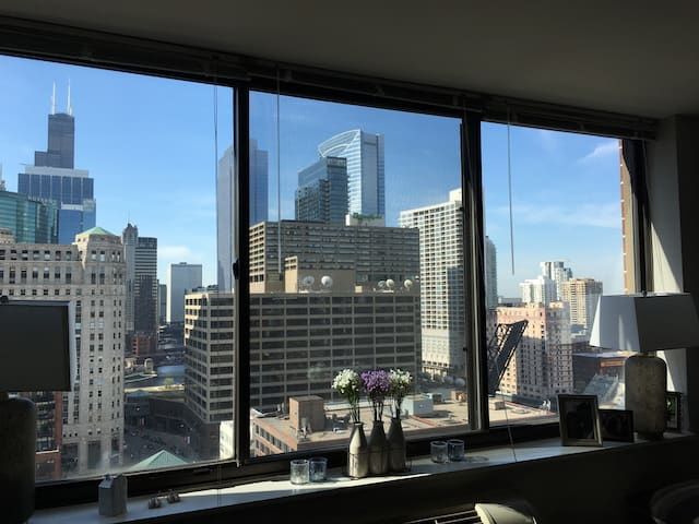 Sunny high-rise apartment in Chicago's River North - Chicago - Appartamento