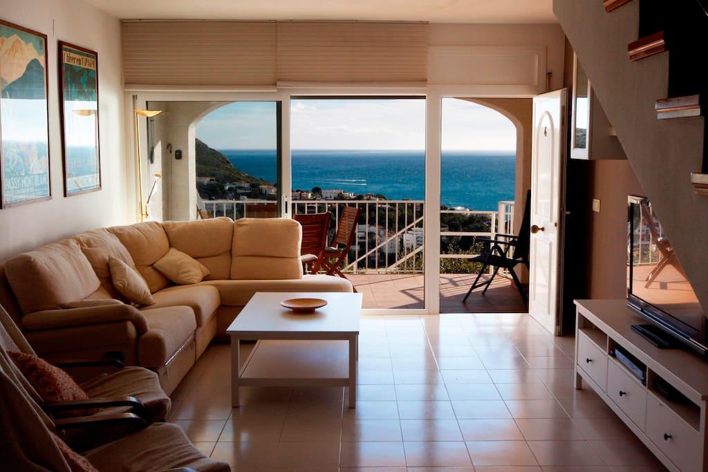 Gran salón con terraza