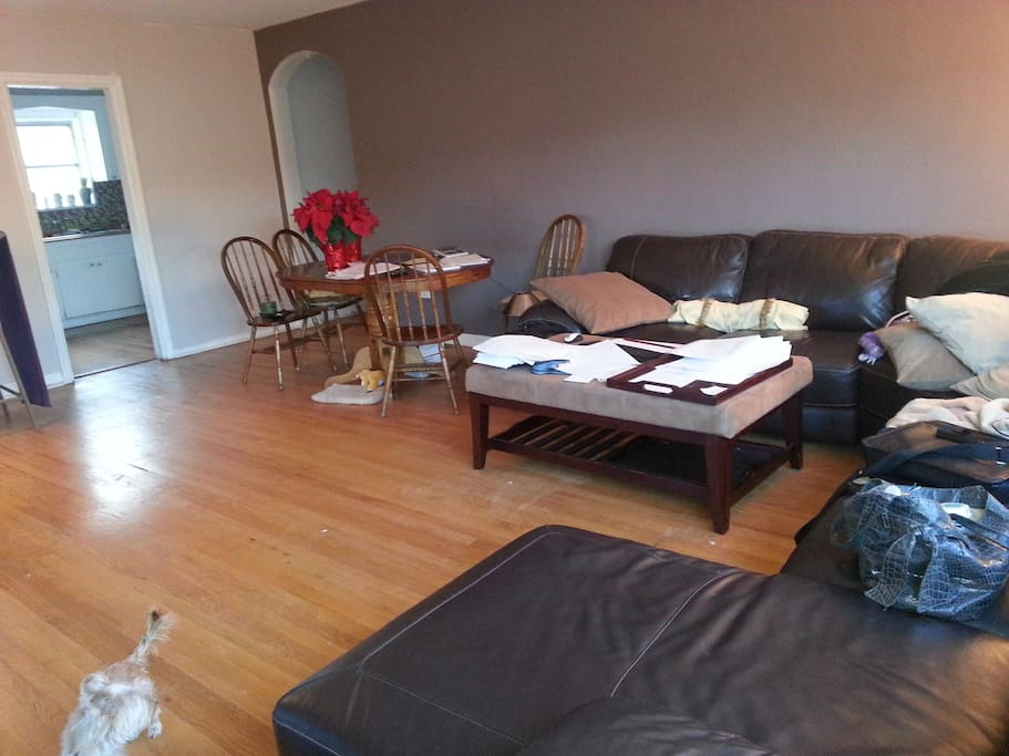 Large living room and dining table(paper free, I promise!)