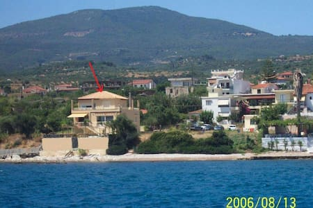 Villa apartment on the sea. - Petalidi