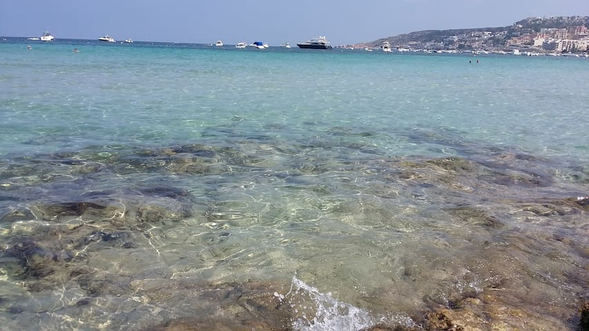 Beach  crystal water