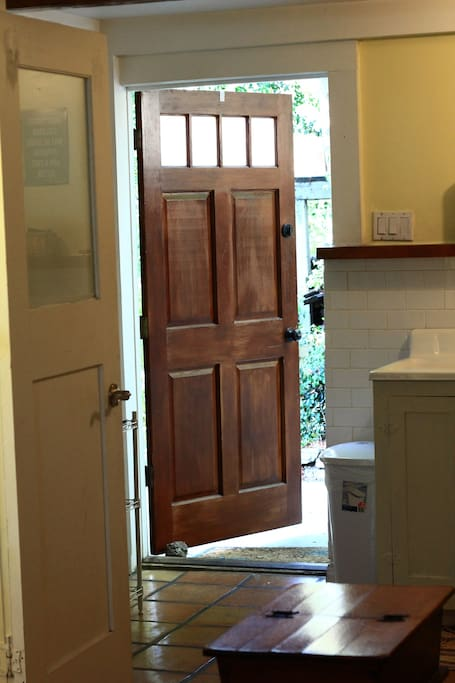 Your own private entry way into the studio.