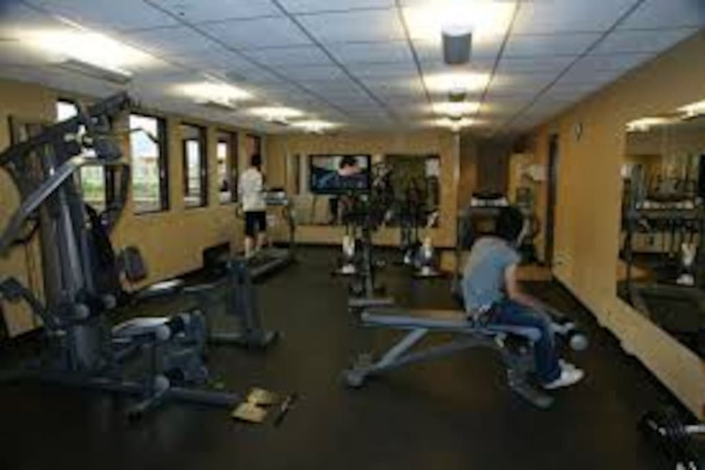 Fully equipped gym located on third floor