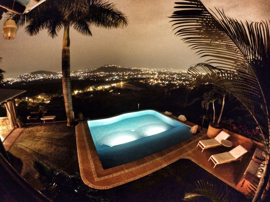 Heated infinity pool with spectacular views