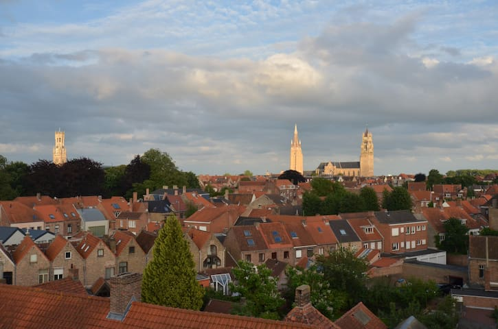 Penthouse with a view - Bruges - Lägenhet