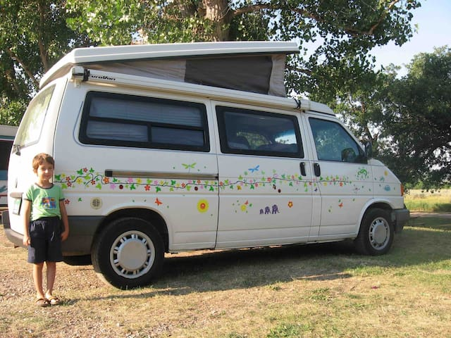 VW Eurovan Pop-top in Amish Country, Self Check-in